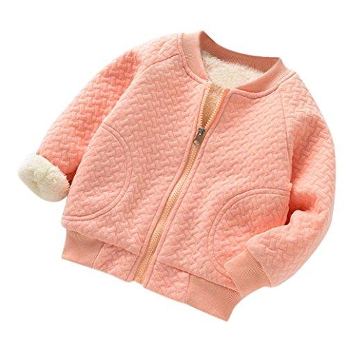 Baby Fleecejacke Hirolan Kinderkleidung Säugling Kleinkind Winter Kleider Mantel Mädchen Bomberjacke Jungen Reißverschluss Warm Outwear Beiläufig Steppjacke (80cm, (80's Girl Kostüme)