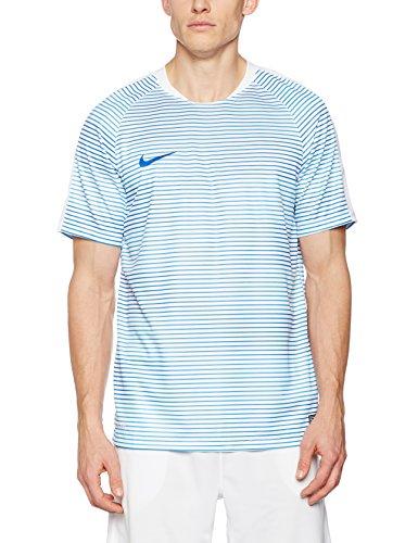 Nike Herren Flash Graphic 1 Kurzarm T-Shirt, Weiß/Game Royal, L