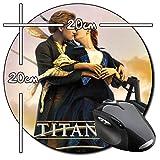 Titanic Leonardo Dicaprio Kate Winslet E Tapis De Souris Ronde Round Mousepad PC