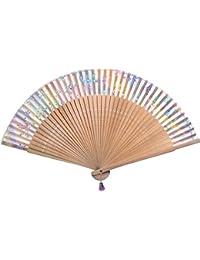 E0493. Sublime éventail à main accessoire de mode d'été- décoration de maison