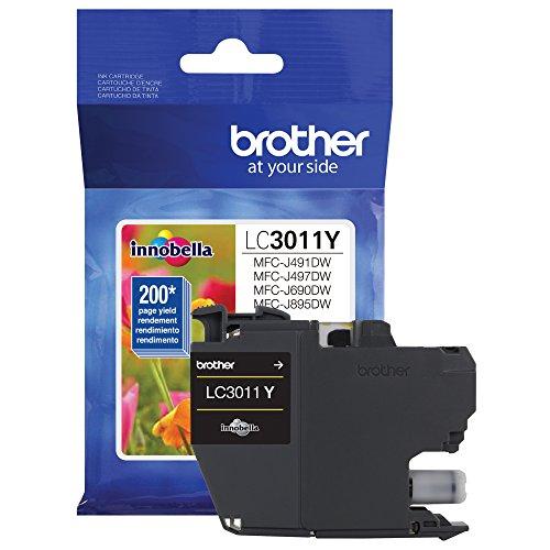 Brother Original lc3011y Single Pack Standard Ergiebigkeit Tintenpatrone Gelb, Ergiebigkeit: bis zu 200Seiten, lc3011
