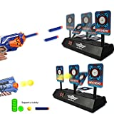 TEEPAO Shooting Target con puntaje eléctrico Bullet Stand, niños Electrónica Inteligente Luz Efecto de Sonido Puntaje Target Birthday Present/Boy War Gam\uffc2set