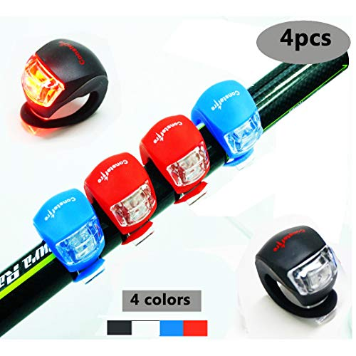 4 Piezas LED Clip-On Silicon Band Luces Bicicleta
