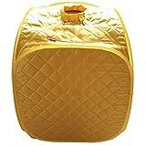 LYM &Entgiftung Infrarot Sauna/Portable, Mobile Sauna Home/Infrarot Heizkabine abnehmen (Farbe : Gelb)