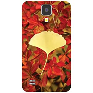 Samsung I9500 Galaxy S4 - Yellow Leaf Matte Finish Phone Cover