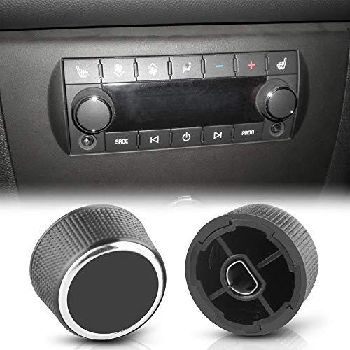 TOOGOO 2 Stücke Hinten Radio Audio Lautst?rke Regler Knopf Tuner für 07-13 Chevy Tahoe Chevrolet Silverado Gmc Acadia Sierra Denali Yukon Gm 22912547 Radio Reparatur Kit Denali Audio