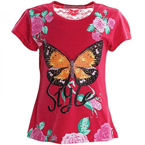 BEZLIT Kinder Mädchen T-Shirt Short Sleeve Sweat Hemd 20317, Farbe:Pink, Größe:104