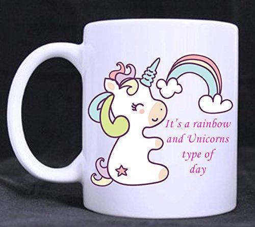Regenbögen und Einhörner–Cute Funny Neuheit 11Oz Tee/Kaffee Tasse Geschenkidee