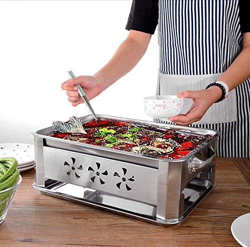 VAKHAR Stainless Steel Household and Commercial Double Using Fish Roaster Grill Charcoal Alcohol Grilled Fish Stove Grill