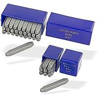 Dema - Juego de 36 cifras y letras para estampar de acero templado (6 mm)