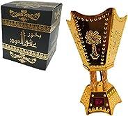 Kogu Electric Incense Oud Bakhoor Burner With Ashek Al Oud Bakhoor Oud 35 gm Fragrance for Home Office