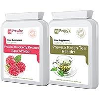 Lampone Chetoni e tè verde Combo - tè verde capsule - aiuta a spargere il grasso per uomo e donna - raggiungere la perdita di peso obiettivi di FAST - Pillole Fat Burner Diet - Prodotti dimagranti