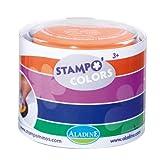 Unbekannt Aladine 85150 - Stampo Colors Karneval, 4 Stempelkissen, grün/blau/violett/orange