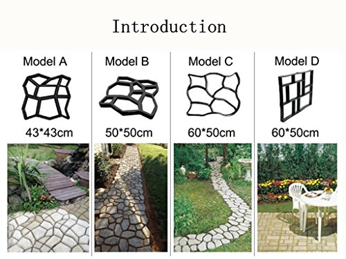 icase4u-diy-plastic-path-maker-mold-manually-patch-cement-brick-steinstrasse-concrete-forms-walkmake