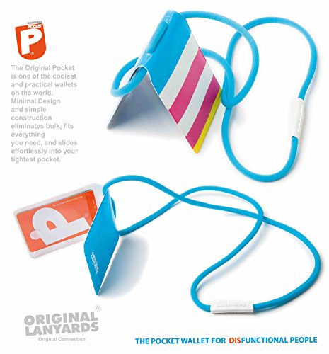 Original Lanyards® POCKET stylische Taschengeldbörse Brustbeutel, in 10 Farben erhältlich - (Made In Portugal) Kiwi Rainbow