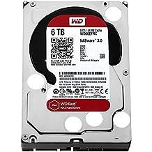 """WD Red WD60EFRX - Disco duro de 6 TB (SATA, 6 GB/s, 64 MB de caché, 3.5""""), color blanco y rojo"""