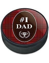 Papa Numéro un meilleur père Plaid palet de hockey sur glace