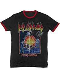 Def Leppard Pyromania 83 Tour Lightweight Men's Ringer T-Shirt