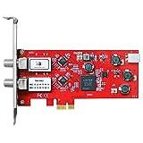 TBS TBS-6902 DVB-S2 Doppel-Tuner,PCIe Satelliten-HDTV Empfangskarte Rot