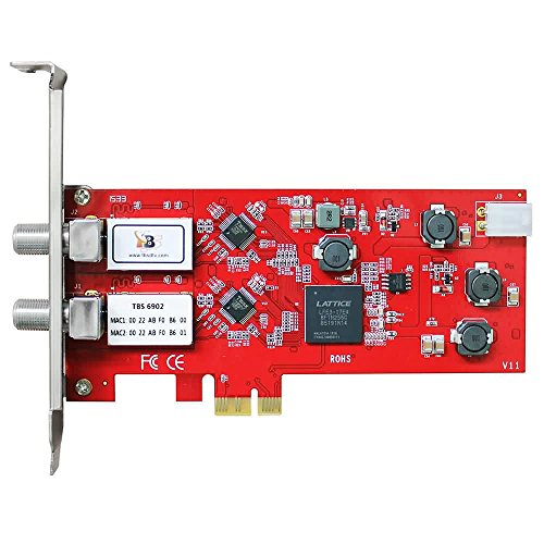TBS TBS-6902 DVB-S2 Doppel-Tuner,PCIe Satelliten-HDTV Empfangskarte - Pci-express-x1-karte
