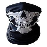 Multifunktionstuch | Schlauchtuch | Sturmmaske | Bandana | Totenkopf Halstuch Skelettmaske für Motorrad Fahrrad Ski Paintball Gamer Karneval Kostüm Skull Maske