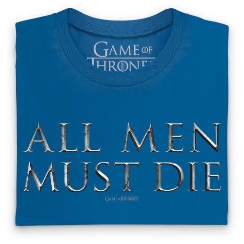 Official Game of Thrones - All Men Must Die T-Shirt, Damen Royalblau