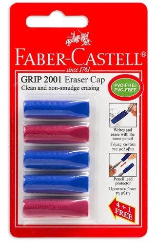 faber-castell-grip-2001-radierer-kappen-fur-bleistifte-5-stuck