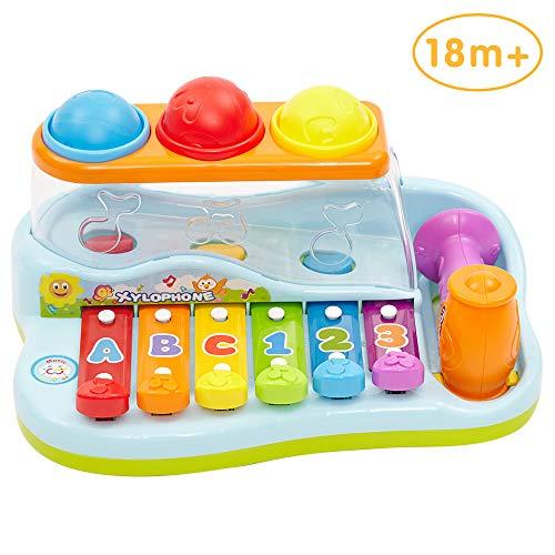 Limtoys Musikspielzeug Baby Spielzeug xylophon Musikinstrumente für Baby Klavier Keyboard und Hammer für Kinder, Jungen und Mädchen Spielzeug ab 1 2 3 Jahre