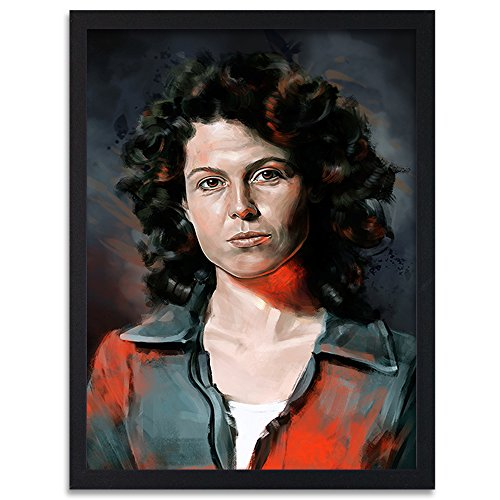 Feeby. Tableau encadré, Tableau Déco, Tableau Mural, Décoration Murale Image Imprimée, 1 Partie - 40x60 cm, Dmitry Belov - Femme Noir