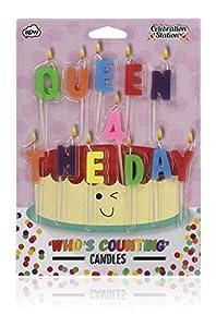 NPW Velas de cumpleaños para Tartas - Queen 4 el día decoración de Tartas celebración Nación