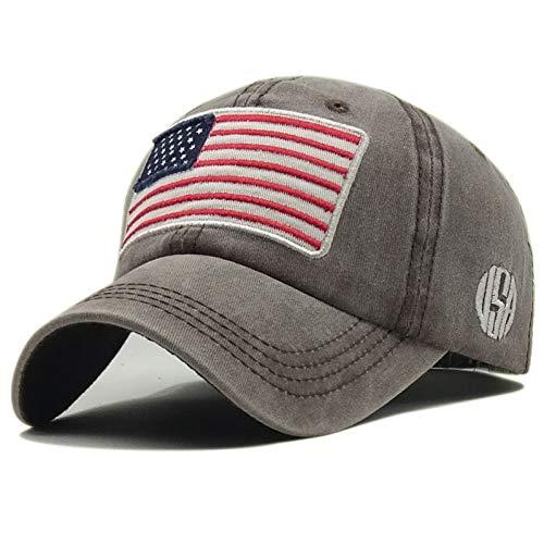 ENGXING Hochwertige Gewaschene Baumwolle Baseball Caps Usa Flagge Stickerei Hut Für Männer Frauen Amerika Brief Hip Hop - Usa-mesh-hut