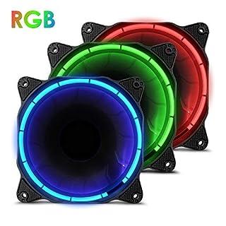 anidees AI Halo 120mm Hohe Luftstrom RGB LED Gehäuselüfter for PC Case CPU-Kühler und Radiator Dreifach-Set gehören Controller -RGB
