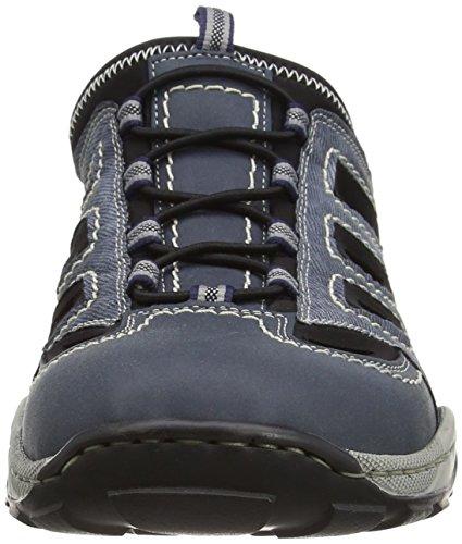 Rieker Herren 08096 Clogs Blau (denim/jeans/schwarz / 16)