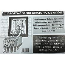 Alfa - Cubre Tendal Avion Largo, Medidas 1,60X1,60, Color Transparente
