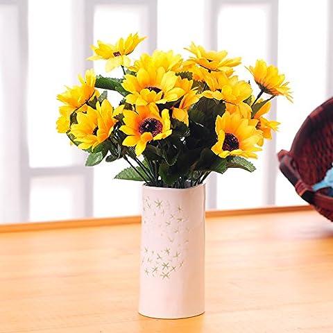ShiQi Fiori artificiali Soggiorno moderno sposa azienda bouquet di girasoli