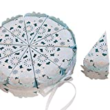 Zhi jin 30Pcs Elegent cake Style wedding Candy box Chocolate borse fiori Bonbonniere compleanno decorazioni Baby Shower Mint Blue
