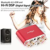 Nobsound NS-10G Pro Hi-Fi DSP 100W (50W x 2) Digital Bluetooth 4.2 Amplifier 2.0 Channel Stereo Power Audio Amp for Home Speakers Upgrade Version Mini Digitaler Verstärker (with Power Supply, Red) Vergleich