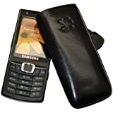 Samsung S7220 Ultra Classic - Leder Etui Tasche **Original SunCase** In der Farbe Schwarz