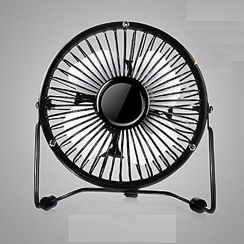 ZYUSHIZ Usb Mini Desk Fans Mute Big Winds Portable Four Leaf Mesa Fan,Black