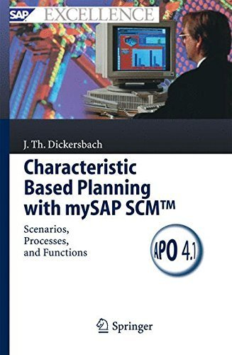 Characteristic Based Planning with mySAP SCMTM: Scenarios, Processes, and Functions (SAP Excellence) by J????rg Thomas Dickersbach (2005-08-08) par J????rg Thomas Dickersbach