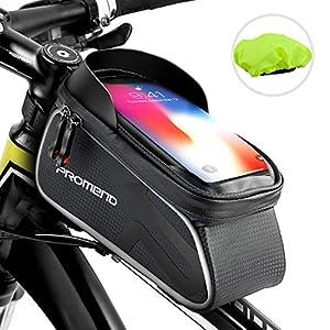 """shenkey Bolso Bicicleta, Bolso del Marco de la Bici Bolso Impermeable del teléfono de la Bici de la Pantalla táctil de la manija de la Bicicleta con el Visera del Sol para Debajo DE 6.2"""" teléfono"""