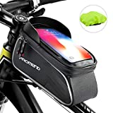 Fahrrad Rahmentasche, Fahrradrahmen Tasche Wasserdicht Touchscreen Fahrrad Handbar Front Bike Handytasche mit Sonnenblende für unten 6.2