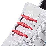 Hickies Cordones Elásticos No-Tie 2.0 Performance - Coral (14 Unidades, Funciona con todas las zapatillas)