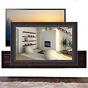 Handmade Framed Mirror to Turn Your Existing TV to Hidden Mirrored Television that Blends into Your Home or Business Decor