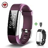 CHEREEKI Fitness Tracker Pulsera Inteligente con Monitor de Pulso Pulsera Actividad con Contador de Calorias/ Monitor de Sueño/ Contador de Pasos/ Reloj Smart Bracelet Smartwatch para Android y iOS iPhone