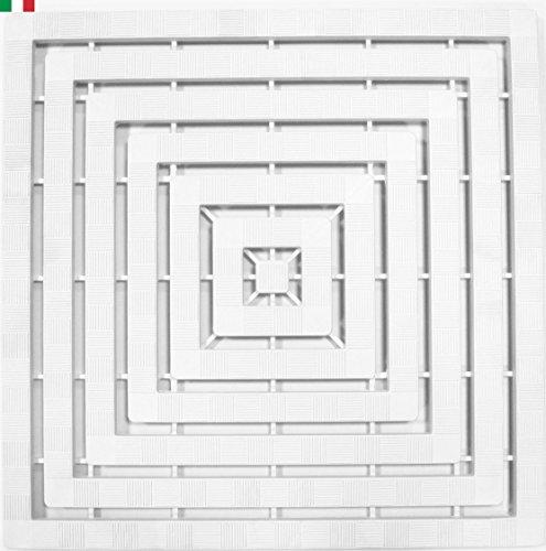 CENNI 75831 - Plataforma de Ducha 60 x 60 con Gomas Antideslizantes, Color Blanco, Fabricado en Italia...