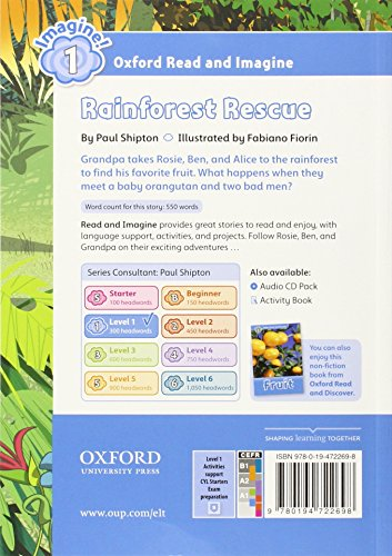 Oxford Read and Imagine: Oxford Read & Imagine 1 Rainforest Rescue Pack - 9780194722575