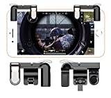 #3: Mobile Game Controller Gamers Yard L1R1 Sharpshooter Aiming Triggers for PUBG/Fornite/ Knives Out/Rules of Survival, Fits for 4.5-6.5inch Android Phone/iPhone [1 Pair, Upgraded Metal Edition] (Black)