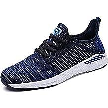 Calzado Deportivo Hombres Mujer Correr Zapatos Transpirable de Malla Caminar ligero Zapatillas Casual