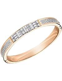 Swarovski Women's Bracelet Bangle Ethic Narrow Stainless Steel Crystal Clear Baguette 5.80CM–5202244